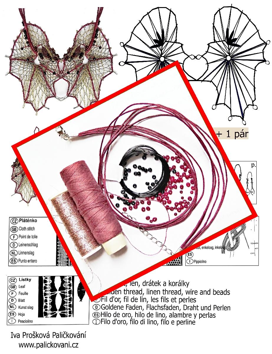 Náhrdelníček + náušnice - set 1120