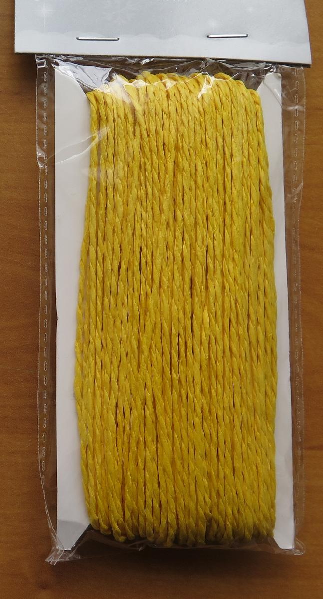 Papírový provázek žlutý