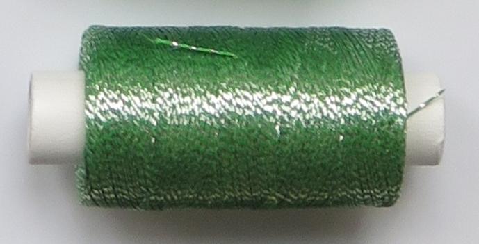 obuvnická + metalika  zelená/stříbro