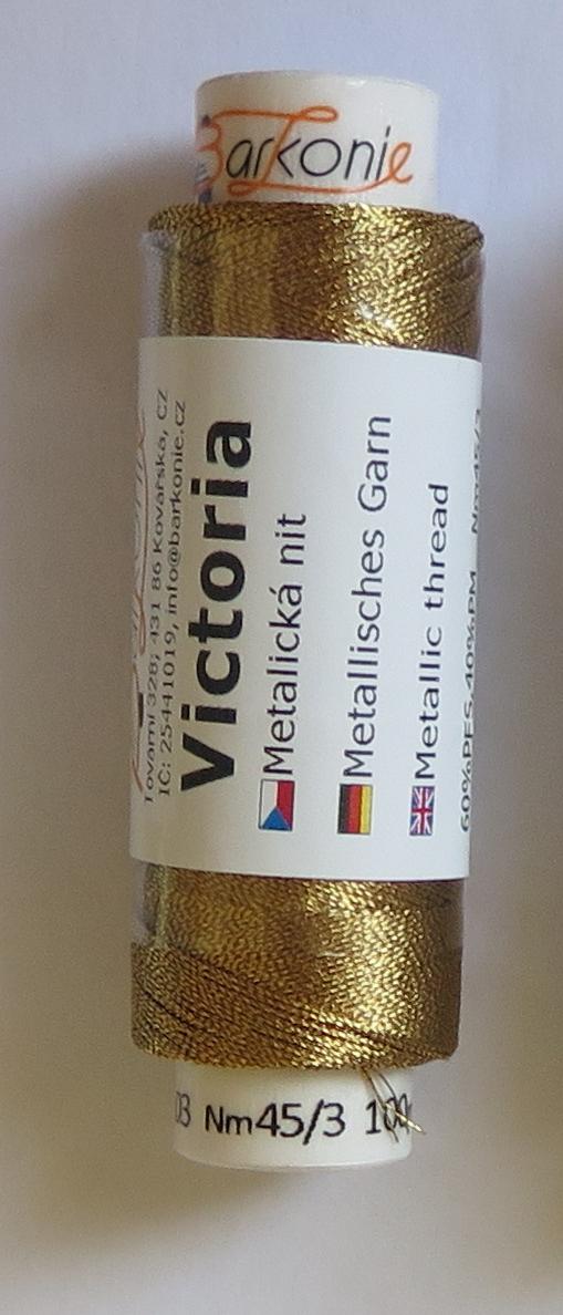 nit VICTORIA 03 tmavší zlatá