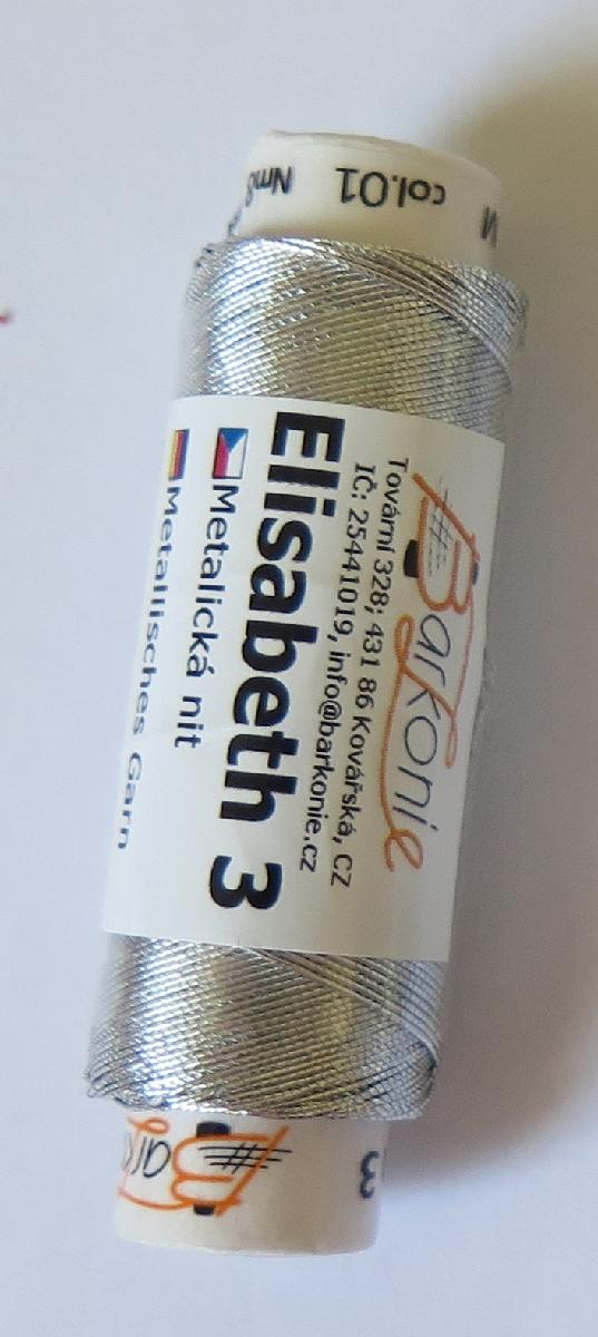 nit ELISABETH 3 stříbrná