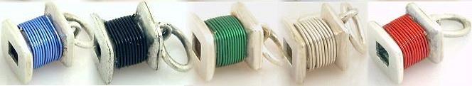 Hranatá špulka s barevným drátkem