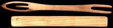 Síťovací jehla s dřívkem, délka 22 cm