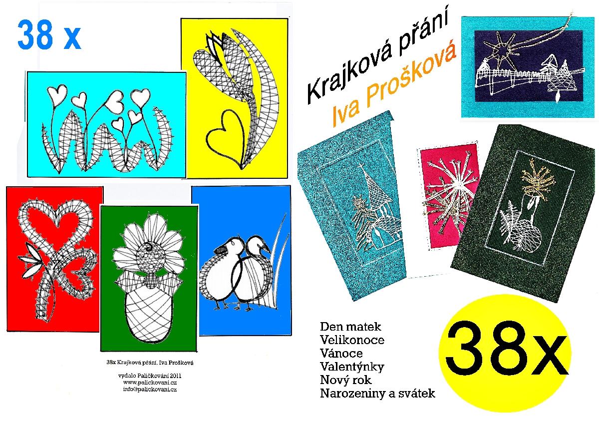 38x Krajková přání: Iva Prošková