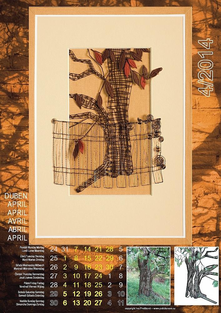 Krajkářský kalendář 2014