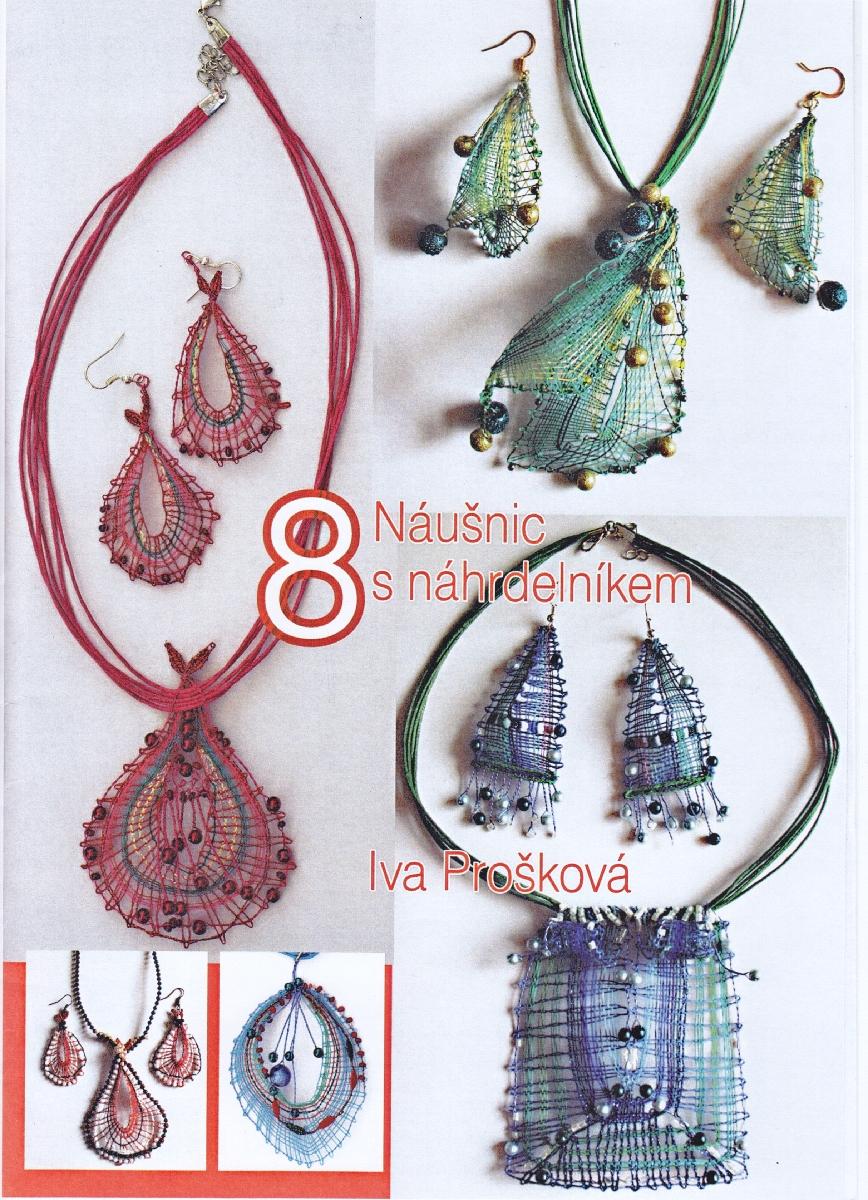 8 náušnic s náhrdelníkem