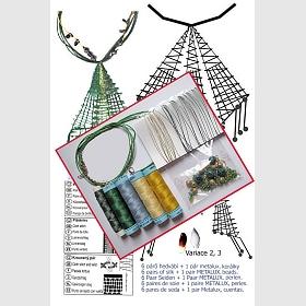 Náhrdelník + náušnice - trojúhelníky